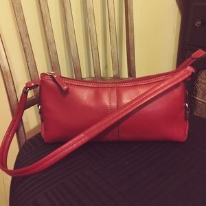 Authentic Relic all red leather purse.